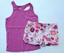 Gymboree 8 10-12 Bright Days Ahead Tank Top Shorts Floral Set TD1-354
