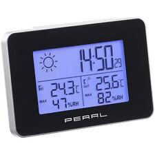PEARL Wetterstation mit Funkwecker, Thermo-/Hygrometer und Funk-Außensensor
