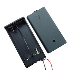 Black New 2A Battery Holder Box Case With Switch With Lid for 2x18650 Battery