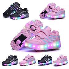 2017 LED Wheel Shoes Kids Girls Boys Led Light UP Roller Skate Sneakers Shoes
