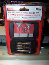 Craftsman Titanium Screw Extractor Set 3 Piece 944846 Removes Damaged Screws