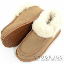 Ladies / Womens Cow Suede Upper / Wool Lined Slippers