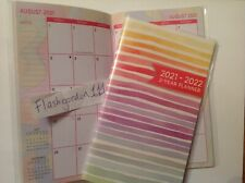 1 2021-2022 Striped Two Year Planner Pocket Purse Calendar 2 Year Datebook Gift
