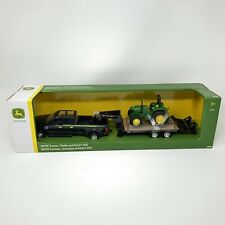 Tomy Toy Ford F350 with John Deere 5075E Tractor on Trailer 1/32 Scale