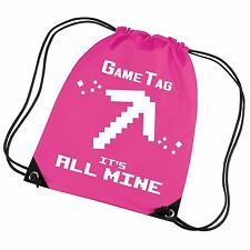 IT'S ALL MINE - Kids Gym Bag - Can be personalised with Name/GameTAG
