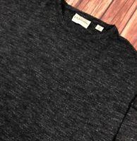 DKNY Pure Women Crew Neck Jumper Sweatshirt Oversized Charcoal Grey Marl Size M