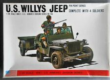 Vintage & Rare 1/48 Bandai US Willys Jeep with Trailer model kit.