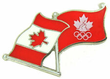 Vintage Team Canada Olympic Flag Pin Undated but used at Vancouver 2010 Games
