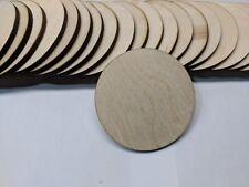 "Crafting Supplies 5pc. Laser cut wood Circles 4"" round Disc Blank cutout slice"