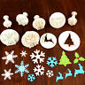 Christmas Diy Plunger Cookies Cutter Biscuit Cake Decorating Sugarcraft Mould