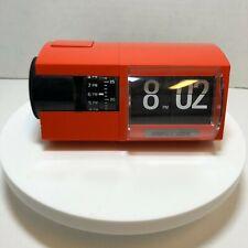 Vintage 1966 Solari & C. Udine Flip Clock Cifra 2 Rare Orange