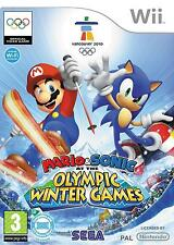 MARIO AND SONIC AT THE OLYMPIC WINTER GAMES=(Wii)=Ski Jump+Cross+Curling+Skiing