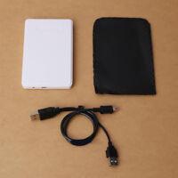 """2.5 """" USB 2.0/3.0 sata hd hdd disco rigido box esterno mobile DISCO BOX Nero"""