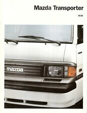 Prospekt / Brochure Mazda Transporter E2000 10/1995