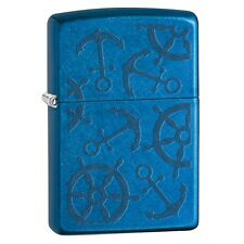 "Zippo ""Nautical Themes"" Cerulean Blue Finish Lighter, Full Size, 29251"