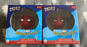 Spiderman Homecoming - 2 x Dorbz - Homemade Suit and Suit - Marvel