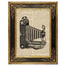Vest Pocket Folding Camera #3 Art Print on Vintage Book Page Office Decor Gifts