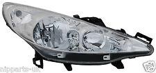 Peugeot 207 2006-2015 Chrome Front Headlight Headlamp O/S Drivers Right