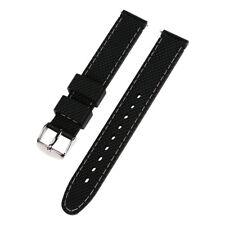 Voguestrap TX1621BK Allstrap 16mm Unisex Black Textured Silicone Watch Band