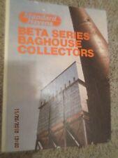 RARE BOOK Standard Havens BETA BAGHOUSE COLLECTORS Manual Reports Maintenance