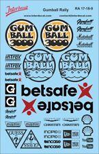 Gumball Rally Decal 1/18 schwarz Sponsor Streetracing Drift Tuning RA17-18-9