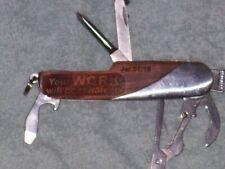 VINTAGE RELIGIOUS FOLDING CAMPING KNIFE  SCISSORS SCREWDRIVER MORE JER. 31:16