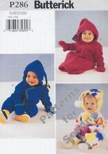 Pattern Butterick Girl Boy Baby Toddler Bunting Hat NB-L New OOP