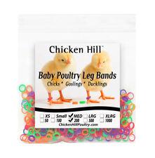 200 Mix Color Chick Leg Bands ~ 1/4