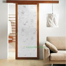3D Floral Static Cling Window Film Stained Glass Paper Frosted Decor Privacy