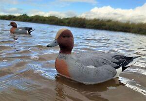 Duck Decoys set of 6 GHG High Head Cock Wigeon decoys