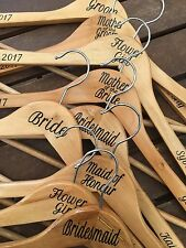 Personalised Wedding Coat Hangers, Bride, Bridesmaid, Bridal Party.