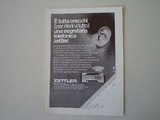 advertising Pubblicità 1971 ZETTLER