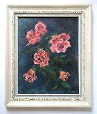 Vintage Oil Painting of Flowers Listed Canadian Artist signed Marguerite Scott