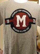 NHL Montreal Maroons 1935 Stanley Cup T-Shirt Large