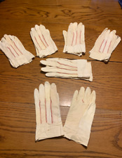 6 Pair Lot Womens Lightweight Goat Skin Leather Gardening Work Gloves Small USA