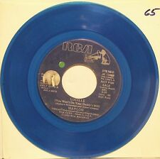 """Waylon """"Lucille (You Won't Do Your Daddy's Will)' 7' Single Record Blue Vinyl VG"""