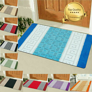Non Slip Bath Mat Small Large Bathroom Rug Water Absorbent Toilet Washable Rug