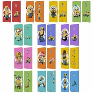 OFFICIAL DESPICABLE ME MINIONS LEATHER BOOK CASE FOR MICROSOFT NOKIA PHONES