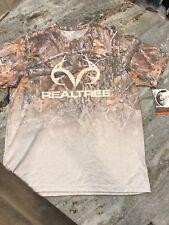 Men's L Realtree Hunting T-shirt Active Polyester DriFit Camouflage Tan Brown Ed