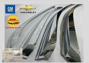 OEM KIT Chevrolet Optra HB Side Window Vent Deflector Rain Guard Visor Chrome