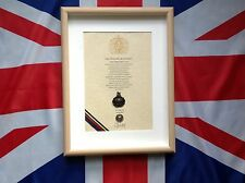 Oath Of Allegiance Royal Marines  (framed with Cap Badge)