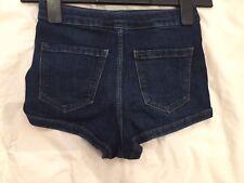 Topshop Moto Petite Denim High Waist Shorts Size 6