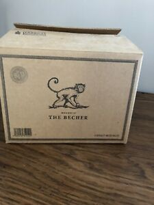Monkey 47 Becher Gin Glass Mugs Genuine Boxed X4