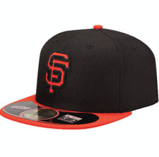 New Era San Francisco Giants Ajustée Chapeau Bonnet Noir & Orange-Taille 7 (Y200B)