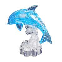 3D Crystal Puzzle, Kristallpuzzle - Blau Delphin