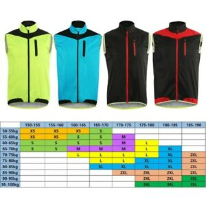 Vest Chemical Fiber Blend Cycling Lightweight Reflective Supply Comfortable