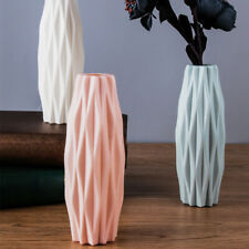 Home Decor Imitation Ceramic Hotel Living Room Solid Flower Vase Nordic Style