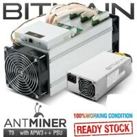 BITMAIN AntMiner T9 10.5TH/s with PSU Lightly Used. Great Condition US SELLER