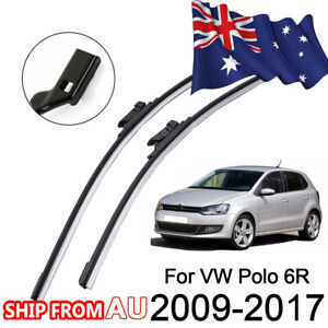 Wiper Blades Front Pair 2 x Windscreen Blade For Volkswagen Polo Hatch 2010-2017
