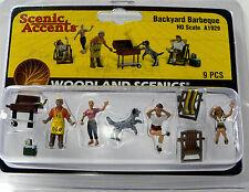 HO Scale Model Railroad Trains Woodland Scenics Backyard Barbeque Figures 1929